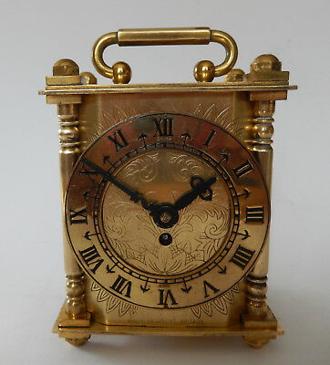 Superb Mid 20th. Cen, Smiths Brass Mantel/Carriage Clock with Original Box 2783