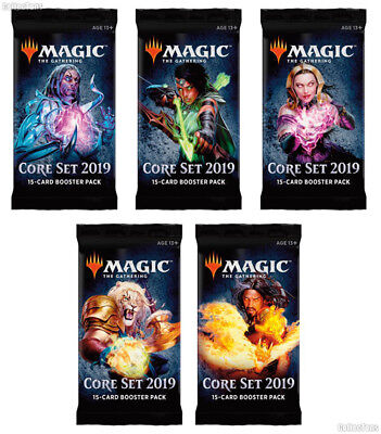 *Magic MtG - M19 CORE SET - 10x Booster - English / OVP / Sealed