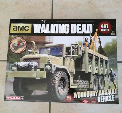 The Walking Dead Woodbury Assault Vehicle Building Set McFarlane