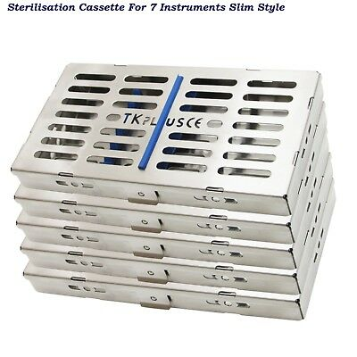 Dental Sterilization Cassettes Slim Style Autoclave Rack tray for 7 Instruments