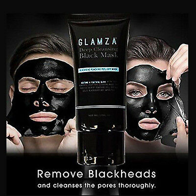 Charcoal Blackhead Remover Peel Off Facial Cleaning Black Face Mask GLAMZA-01