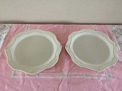 Princess House Pavillion Natural Stoneware Dinner Plates #1304 USED & PRINCESS HOUSE PAVILLION Natural Stoneware Dinner Plates #1304 USED ...