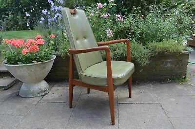 HEALS MID CENTURY ARM CHAIR 1950s/60s heal's vintage retro danish style