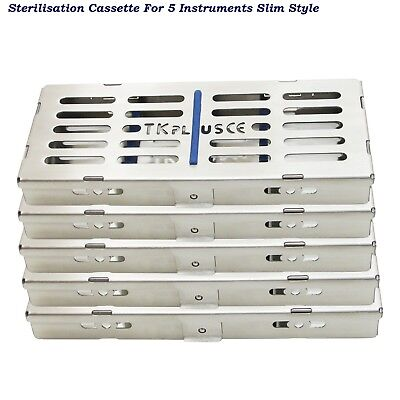 Sterilization Cassettes Slim Style Rack tray for 5 Instruments Dental Surgical