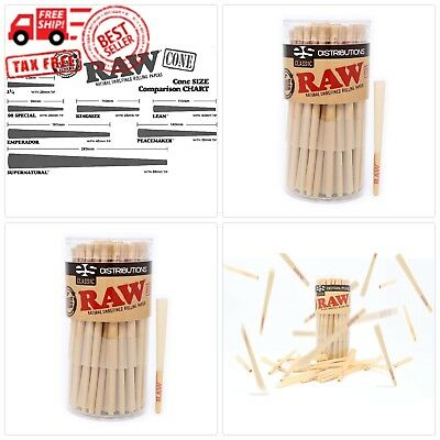 RAW Classic Lean Size Pre-Rolled Cones With Filter (100 Pack)