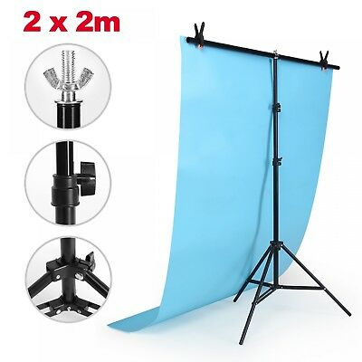 2*2m Adjustable Background Support Stand Photo Backdrop Crossbar Kit Photography