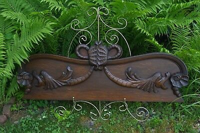 Antique Architectural Ornate Wood Panel Grotesque Sea creature/Wyvern 44-3/4""