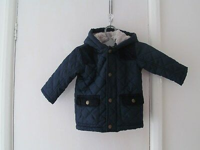 baby boys hooded coat size 9-12 months