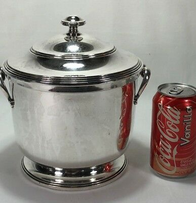 Large CARTIER Sterling Silver Ice Bucket Wine Cooler Mirrored Glass Liner 1,064g