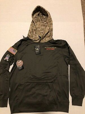 MENS Nike Salute to Service Hoodie CINCINNATI BENGALS M MEDIUM New with tags 2487ad9e5