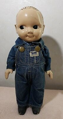 Vintage Late 1940's BUDDY LEE Advertising Doll Engineer/Overalls