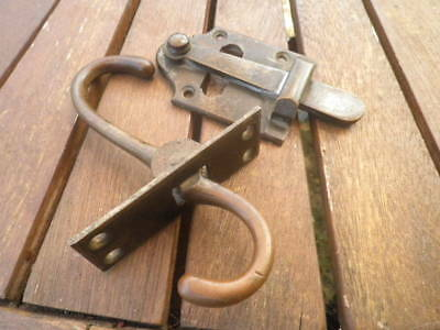 Two  Reclaimed Victorian Solid Brass Door / Gate Latches.