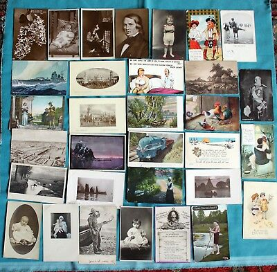 Job Lot Collection 50 X Old Postcards Pre 1945 Mixed Topics - All Shown ~2
