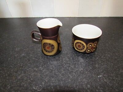 "DENBY ""ARABESQUE""  Milk Jug & Sugar Bowl"