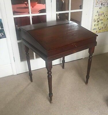 Antique sloped writing desk - Victorian?