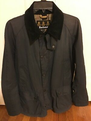 Barbour Ashby Waxed Jacket Great Condition Size S Navy Slim/Tailored British
