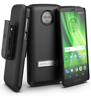 Belt Clip Case for Moto Z3 Play Holster Combo with Reinforced Alloy Kickstand