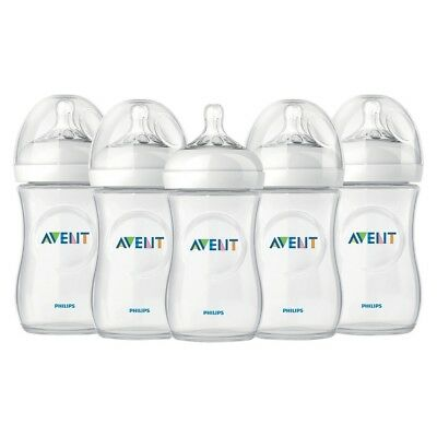Philips AVENT Natural Feeding 9 oz Bottle 1M+, 5 Count