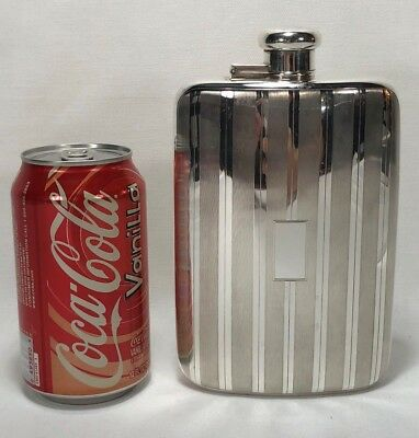 Never Used 1907-1947 Tiffany & Company Makers Art Deco Guilloche Flask 4 Gills