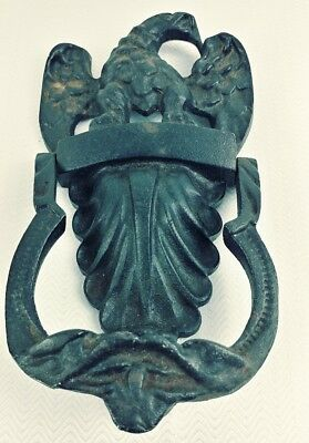 Vintage Wilton Products Eagle Cast Iron Door Knocker  - 8 Inches X 4 Inches