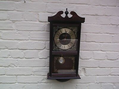 Quartz Wooden Wall Clock Battery Operated,no Gong Or Chime