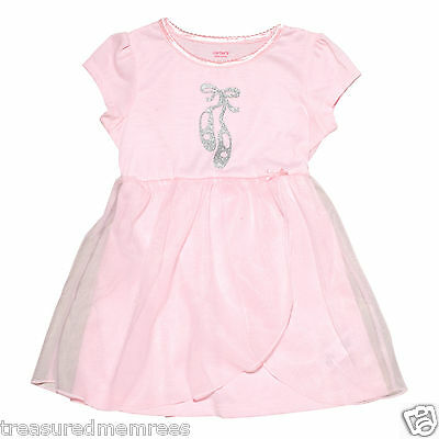 Carter's Pink Ballerina Nightgown With Attached Tulle ~ Size 2T ~ New With Tags