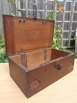 VICTORIAN BRITISH MILITARY BOX (1897) marked RDC - Possibly Artilllery Related