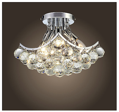 Crystal Waterfall Modern Contemporary Ceiling Light
