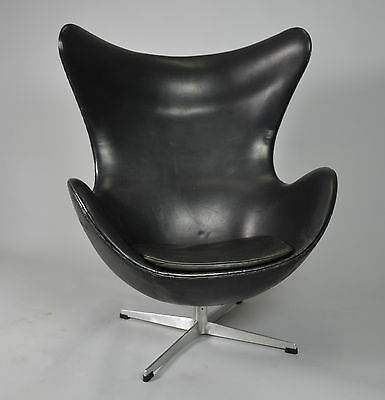 Arne Jacobsen Egg Chair Für Fritz Hansen In Leder 1965 Eur 5800