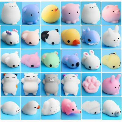 Mini Cute Animal Squishies Kawaii Decorate Mochi Squeeze Toys Soft Squishy Gift