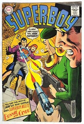 S048. SUPERBOY #149 by DC 2.5 GD+ (1968) BONNIE & CLYDE App., NEAL ADAMS Cover `