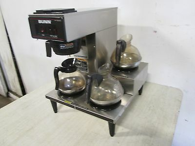 """""""BUNN - VP17-3"""" H.D. COMMERCIAL (NSF) S.S. """"POUR-OVER"""" COFFEE BREWER w/ 3 POTS"""