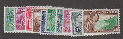 Pitcairn Is. - 1940-51 First Set. Sc. #1-8. SG #1-8. Mint