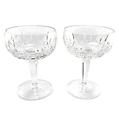 Set of 2 Waterford Crystal Kildare Coupe Champagne Tall Sherbet Glass 5 1/4
