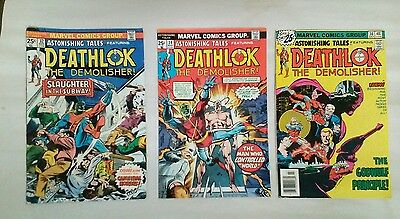 Astonishing Tales comic book lot(Marvel,1970s)DEATHLOK!