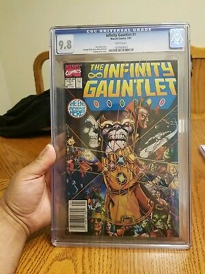 Marvel Infinity Gauntlet #1 1991 Cgc 9.8 White Pages