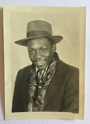 Vintage African American  Photograph Very Handsom Dressed Up Man