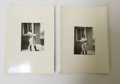 Pair of Vintage African American Photos Nice Looking Young Woman Dressed Up