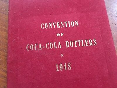 Coca Cola 1948 Convention Of Bottlers Atlantic City New Jersey Program Booklet