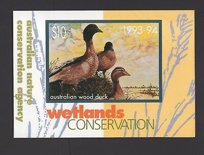 DUCK Stamps Australia 1994 Wetlands Conservation Stamp / Phonecard Pack