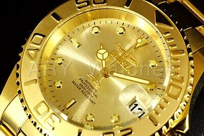 9010OB Invicta Men's Pro Diver COIN EDGE Automatic Yellow Gold Tone Steel Watch