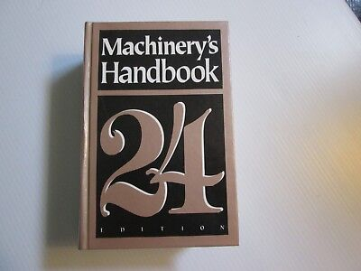 Machinery's Handbook 24 Edition Toolmaker Metal Shop MACHINIST MANUAL Reference