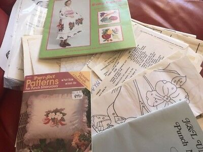 Punch Embroidery , Mixed Lot, Transfers, Patterns