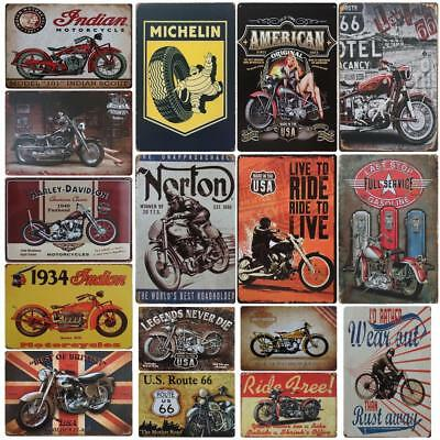 Retro Vintage Metal Iron Poster Motorcycle Signs Plaque Bar Club Wall Home Decor