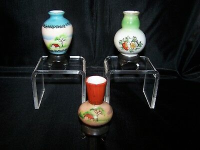 H. Kato Mini Footed Urns – Lot of 3 – Made in Occupied Japan