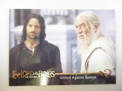 TOPPS Card : LOTR The Return Of The King  #71 UNITED AGAINST SAURON