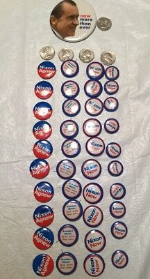 "Vintage President Nixon ""now more than ever"" Campaign pin-back Button-Lot Of 41"