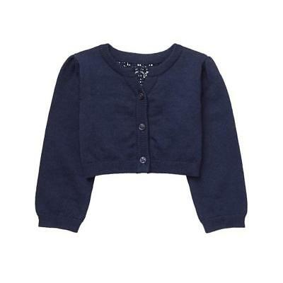 NWT Gymboree Bright Days Ahead Baby Girl Navy Blue Crochet Back Cardigan Sweater