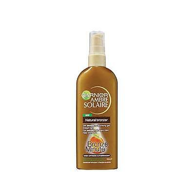 GARNIER AMBRE SOLAIRE NATURAL BRONZER 150ml INSTANT 1 minute TAN for FACE & BODY