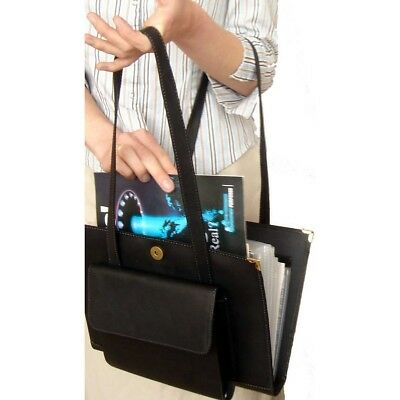 Black leatherette Watchtower Magazine and Tract Tote for Jehovah's Witneses - I7